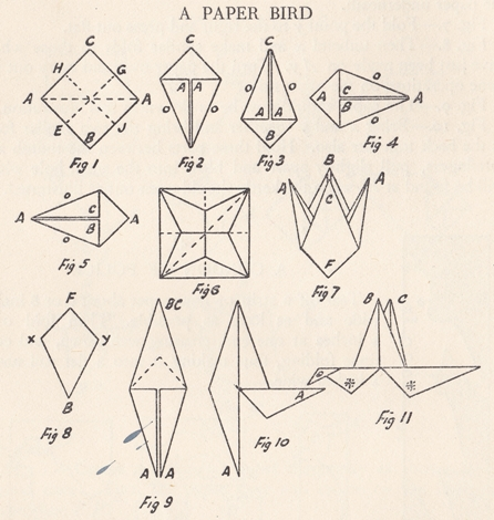 Origami Flapping Bird Instructions and Diagrams | 470x446